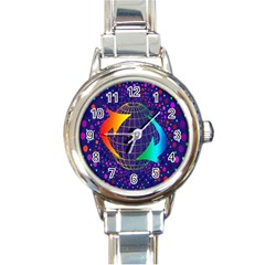 Recycling Arrows Circuit Round Italian Charm Watch