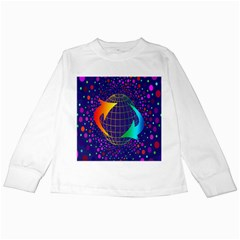 Recycling Arrows Circuit Kids Long Sleeve T-Shirts