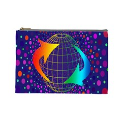 Recycling Arrows Circuit Cosmetic Bag (Large)