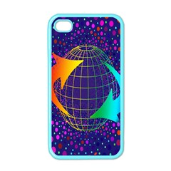 Recycling Arrows Circuit Apple iPhone 4 Case (Color)