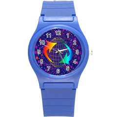 Recycling Arrows Circuit Round Plastic Sport Watch (s)