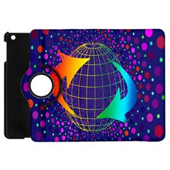 Recycling Arrows Circuit Apple Ipad Mini Flip 360 Case