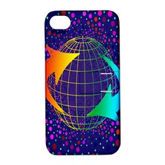 Recycling Arrows Circuit Apple iPhone 4/4S Hardshell Case with Stand