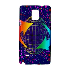 Recycling Arrows Circuit Samsung Galaxy Note 4 Hardshell Case