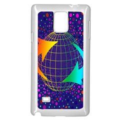 Recycling Arrows Circuit Samsung Galaxy Note 4 Case (white)