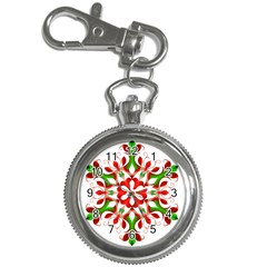 Red And Green Snowflake Key Chain Watches