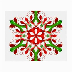 Red And Green Snowflake Small Glasses Cloth (2 Side)