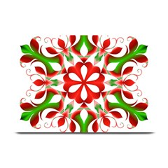 Red And Green Snowflake Plate Mats