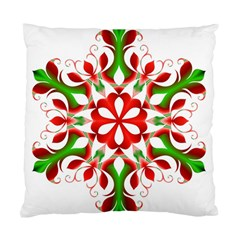 Red And Green Snowflake Standard Cushion Case (two Sides)