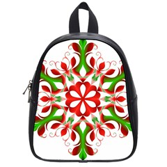 Red And Green Snowflake School Bags (Small)