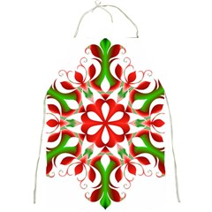 Red And Green Snowflake Full Print Aprons