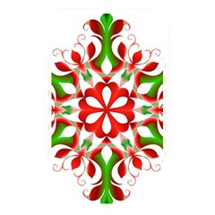 Red And Green Snowflake Memory Card Reader