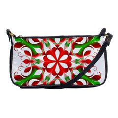 Red And Green Snowflake Shoulder Clutch Bags