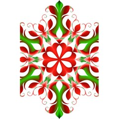 Red And Green Snowflake 5 5  X 8 5  Notebooks