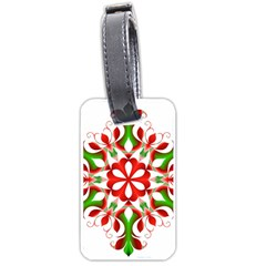 Red And Green Snowflake Luggage Tags (One Side)
