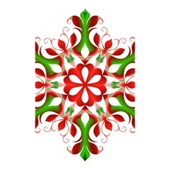 Red And Green Snowflake Shower Curtain 48  x 72  (Small)