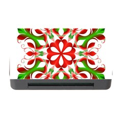 Red And Green Snowflake Memory Card Reader with CF