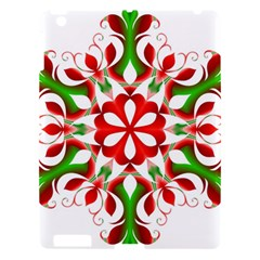 Red And Green Snowflake Apple Ipad 3/4 Hardshell Case