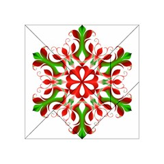Red And Green Snowflake Acrylic Tangram Puzzle (4  X 4 )
