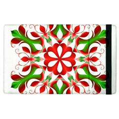 Red And Green Snowflake Apple Ipad 3/4 Flip Case