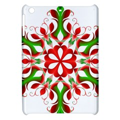 Red And Green Snowflake Apple Ipad Mini Hardshell Case