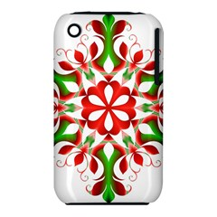 Red And Green Snowflake Iphone 3s/3gs