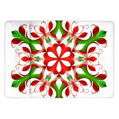 Red And Green Snowflake Samsung Galaxy Tab 10 1  P7500 Flip Case