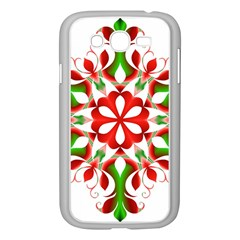 Red And Green Snowflake Samsung Galaxy Grand Duos I9082 Case (white)
