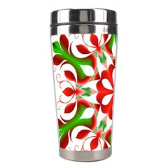 Red And Green Snowflake Stainless Steel Travel Tumblers