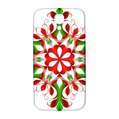 Red And Green Snowflake Samsung Galaxy S4 I9500/i9505  Hardshell Back Case