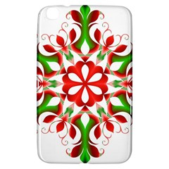 Red And Green Snowflake Samsung Galaxy Tab 3 (8 ) T3100 Hardshell Case