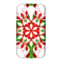 Red And Green Snowflake Samsung Galaxy S4 Classic Hardshell Case (pc+silicone)