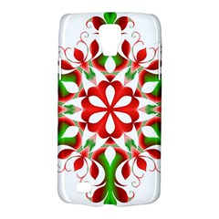 Red And Green Snowflake Galaxy S4 Active