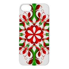 Red And Green Snowflake Apple Iphone 5s/ Se Hardshell Case