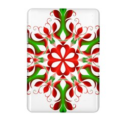 Red And Green Snowflake Samsung Galaxy Tab 2 (10 1 ) P5100 Hardshell Case