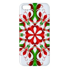 Red And Green Snowflake Iphone 5s/ Se Premium Hardshell Case