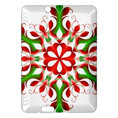Red And Green Snowflake Kindle Fire Hdx Hardshell Case
