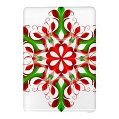Red And Green Snowflake Samsung Galaxy Tab Pro 10 1 Hardshell Case