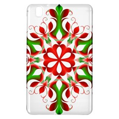 Red And Green Snowflake Samsung Galaxy Tab Pro 8 4 Hardshell Case