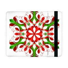 Red And Green Snowflake Samsung Galaxy Tab Pro 8 4  Flip Case