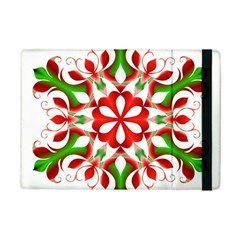 Red And Green Snowflake Ipad Mini 2 Flip Cases