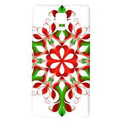 Red And Green Snowflake Galaxy Note 4 Back Case