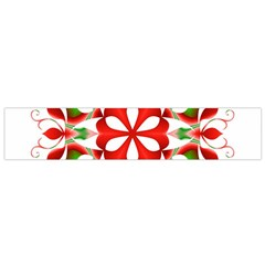 Red And Green Snowflake Flano Scarf (small)