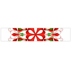 Red And Green Snowflake Flano Scarf (large)