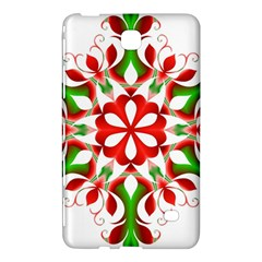 Red And Green Snowflake Samsung Galaxy Tab 4 (8 ) Hardshell Case