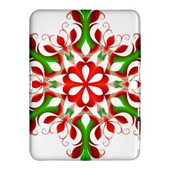 Red And Green Snowflake Samsung Galaxy Tab 4 (10.1 ) Hardshell Case
