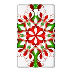 Red And Green Snowflake Samsung Galaxy Tab S (8 4 ) Hardshell Case