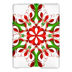Red And Green Snowflake Samsung Galaxy Tab S (10.5 ) Hardshell Case