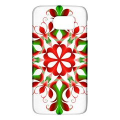 Red And Green Snowflake Galaxy S6