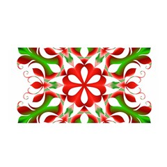 Red And Green Snowflake Satin Wrap